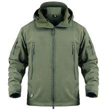 Mege 브랜드 의류 남성 군사 재킷 미국 육군 전술 상어 가죽 softshell 가을 겨울 겉옷 위장 재킷과 코트