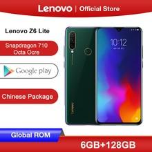 Globale ROM Lenovo Z6 Lite (K10 Nota) 4GB 64GB Snapdragon 710 Octa Core Per Smartphone Tripla Fotocamera Da 6.3 Pollici Android 9.0