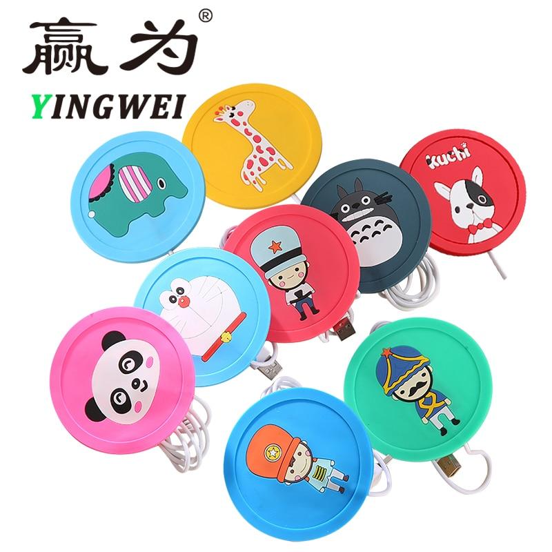 USB Warmer Gadget Cartoon Silicone Thin Cup-Pad Coffee Tea Drink USB Gadgets Heater Tray Mug Pad(China)