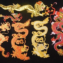 Patch-Sewing-Tools Stage-Dress New-Dragon Embroidery Applique Performance Diy-Pattern