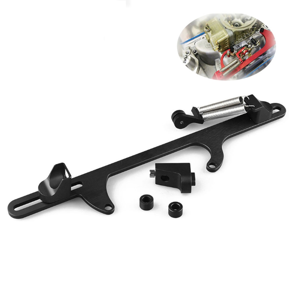 New Holley 4150 4160 Black Aluminum Throttle Cable Carb Bracket Carburetor 350 ~