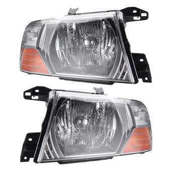 Left+Right LED Car Front Headlights Head Lamps LED Lights Assembly For Mitsubishi Pajero Montero 2000-2006 MN133751 MN133752