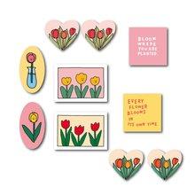 Тюльпан цветок растение серия наклейки для скрапбукинга diy