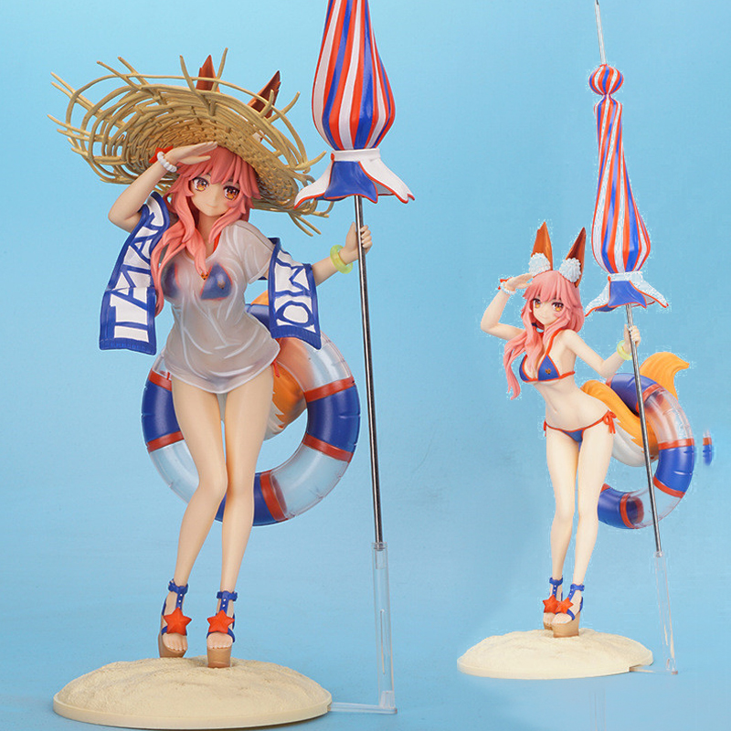 2019 NEW Fate/Grand Order Fgo <font><b>Sexy</b></font> Fox Wife Swimsuit Tamamo No Mae 5 Stars Caster Pvc Action Toys <font><b>Figure</b></font> Model Adult Brinquedo image