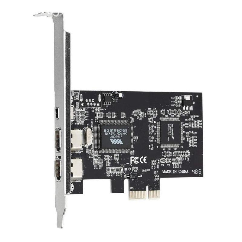 3 Ports 1394A Expansion Card <font><b>PCI</b></font>-E 1X to <font><b>IEEE</b></font> <font><b>1394</b></font> DV Video Adapter 1x 4Pin 2x 6Pin Controller for Desktop PC image