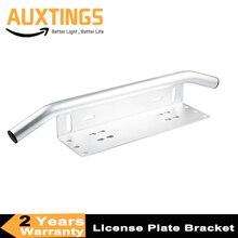 Universal de plata barra parachoques coche SUV Off road matrícula de parachoques delantero soporte de montaje soporte titular de Offroad barra de luz