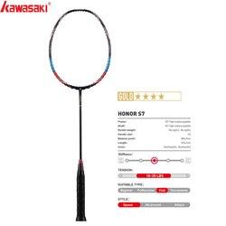 2020  Kawasaki Badminton Rackets Attack Type HONOR S7 40T Carbon Fiber Box Frame Racquet For Amateur Intermediate Players