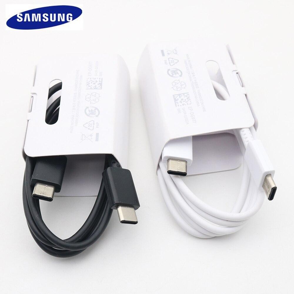 Кабель для быстрой зарядки Samsung Galaxy S20 Plus Note 10 Pro, USB 3,0 25 Вт PD USB Type-C к Type-C, кабель для быстрой зарядки для Note10, S20 Ultra, 1 м