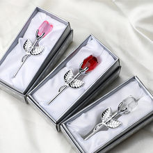 Regalo de dama de honor para niña, recuerdo de cristal, rosa de cristal Artificial, regalos de boda para invitados, recuerdos de fiesta
