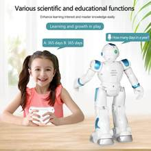 2 Colors Baby Remote Control Toys For Kids Intelligent Programmable Robot With Infrared Controller Toys For Children Best Gift(China)