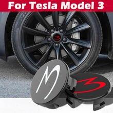 4 шт для tesla model 3 2017 2018 2019 крышка центра колеса автомобиля