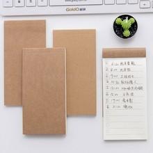 5 sztuk kieszeń Kraft papierowy Notes Do robienia notatek notatnik notatki wiadomość lista rzeczy Do zrobienia lista kontrolna prezent