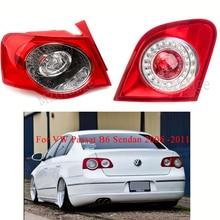 MIZIAUTO 1PCS Rear Tail Light For VW Passat B6 Sendan 2006 -2011 Warning Brake Bumper Stop Lamp