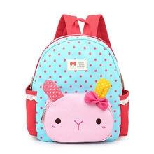 Милый холщовый рюкзак для девочек с изображением розового кролика