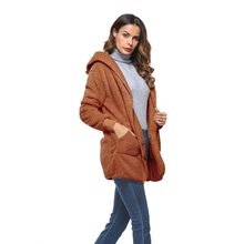 2019 Women Winter Fox Fur Coat Imitation Faux Teddy Bear Jacket Female Mink Middle  Luxury Long