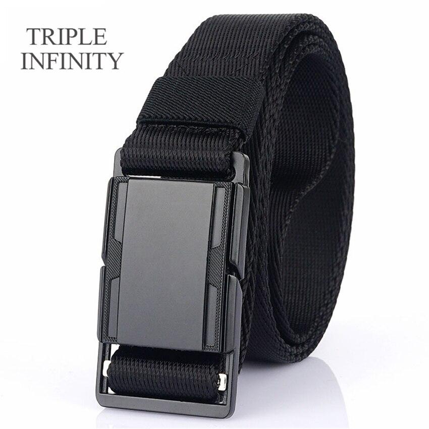 Fashion Men's Belt For Pants Metal Magnetic Buckle Comfortable Outdoor Multi-function Wear-resistant Tactical Belt Quick Release
