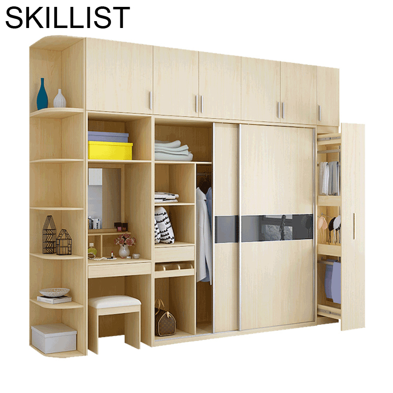 Clothing Mobili Per La Casa Lemari Pakaian Yatak Odasi Mobilya Storage Retro Wooden Closet Cabinet Furniture Bedroom Wardrobe