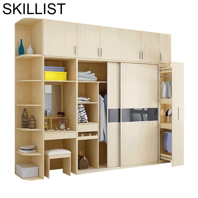 Vêtements Mobili Per La Casa Lemari Pakaian Yatak Odasi Mobilya rangement rétro en bois placard armoire meubles chambre armoire
