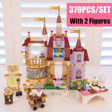 Lepin 01010 Princess Cinderella Castle Palace Girl Friends Building Blocks 379pcs Bricks Toy For Children Birthday Compatible lepin 16030 movie series the hogwarts castle 1340pcs creative building block bricks compatible 4842 educational toy for children