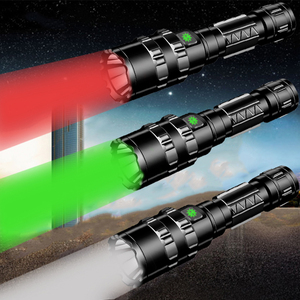 Image 5 - Tactical Light Scout Hunting Led Flashlight Torch Waterproof Shock Resistant,Self Defense,Hard Bulbs Rechargeable White / Green
