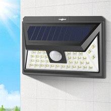 Солнечный свет пути lumiere exterieur Наружное освещение светодиодный настенный светильник PIR датчик движения тела ограждение для сада