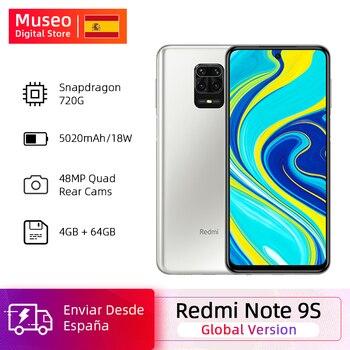 Купить Глобальная версия смартфона Xiaomi Redmi Note 9S 4 Гб 64 Гб Snapdragon 720G 48 МП AI Quad camera Note 9 S 5020 мАч