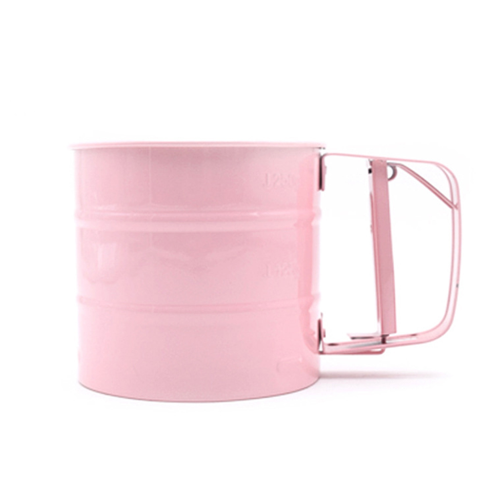 Stainless Steel Flour Sifter Handheld Manual Flour Powder Icing Sugar Sifter Cup Kitchen Home Baking Pastry Tools