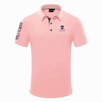 Mężczyźni nowy znak LONA krótkim koszulka golfowa ostatnie lato Golf ubrania z krótkimi rękawami Anti-Pilling sportowe t-shirt do golfa darmowa wysyłka tanie i dobre opinie Cooyute COTTON Poliester Mikrofibra Akrylowe Anty-pilling Przeciwzmarszczkowy Oddychające Szybkie suche Koszule MAPK LONA