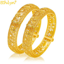 Bracelet Bangle Jewelry Wedding-Ethiopian India Bride Africa Big-Dubai Gold Yellow Women