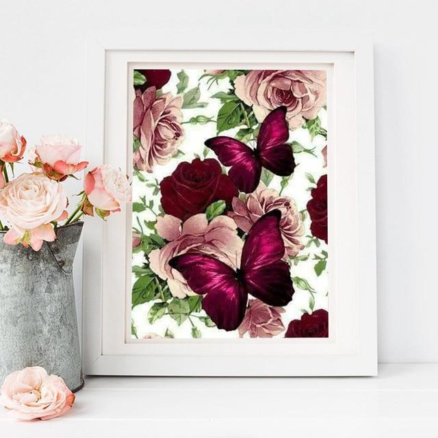 Broderie Diamants Fleurs & Papillon 7