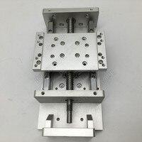 Heavy Load XYZ Axis Cross 100MM 200MM Stroke Module Electric Sliding Table Slide Linear Stage Ballscrew HG15 Guide Platform CNC