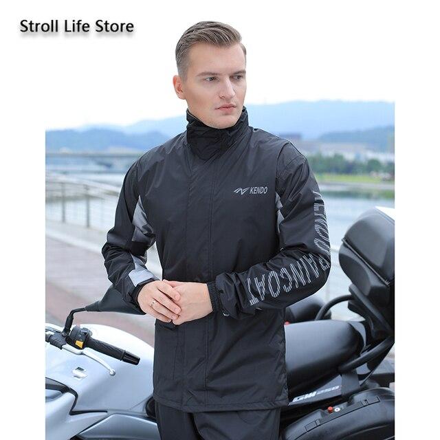 Adults Nylon Motorcycle Raincoat Outdoor Riding Men and Women Full Body Waterproof Poncho Rain Jacket Partner Capa De Chuva Gift 5