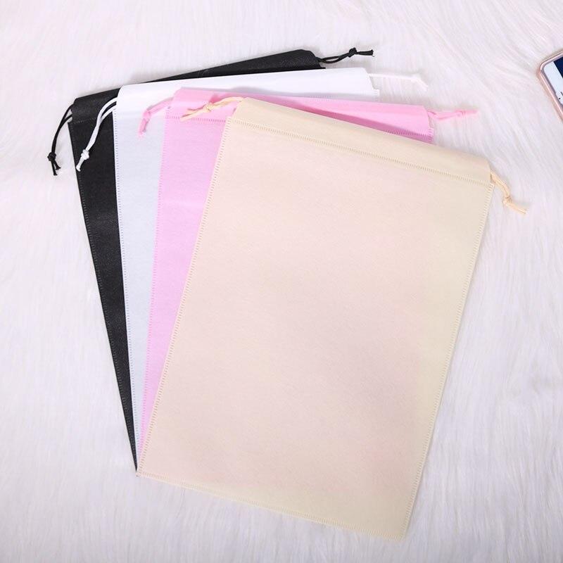 20 pieces  Non woven fabric drawstring bags for clothes/shoegift/Chrismas festival bags Dust bag Storage bag  accept custom logo