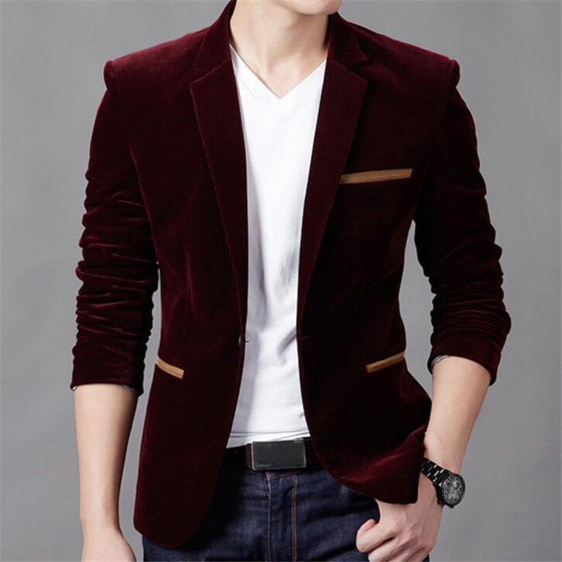 Brand New Korean Men Sim Blazer Spring Warm One Button Single Suit Coat Noble Formal Casual Decent Dress Slim Fit Male Blazer