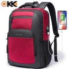 كاكا سعة كبيرة جديدة 15.6 بوصة حقيبة المدرسة اليومية USB شحن المرأة حقيبة كمبيوتر محمول للمراهقين