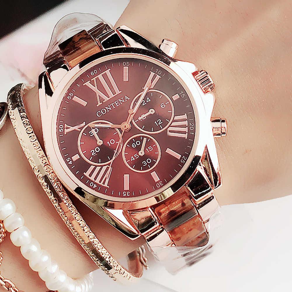 2020 neue Frauen Uhren Berühmte Luxus Top Marke Logo Mode Quarz Braun Damen Handgelenk uhren Genf Designer Geschenke Für Frauen