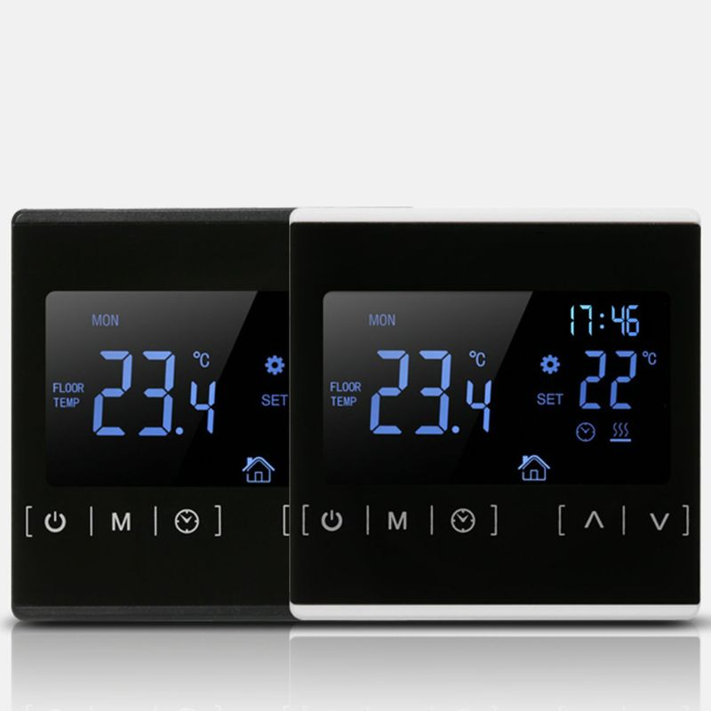 LCD Touch Screen Thermostat Electric Floor Heating System Heating Thermoregulator AC85-240V Temperature Controller 110V 220V 16A