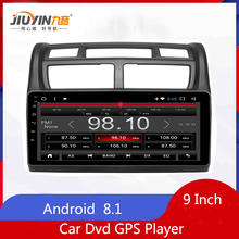 JIUYIN 9 Inch Android 8.1 Car Dvd GPS Player For KIA Sportage 2007-2013 Built-in Wifi  Navigation Multimedia