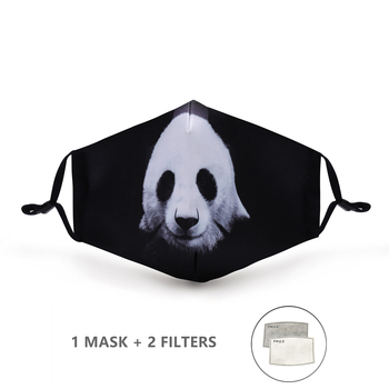 Variation #44 of fashion reusable protective pm2.5 filter printing mouth mask anti dust face mask windproof mouth-muffle bacteria proof flu mask