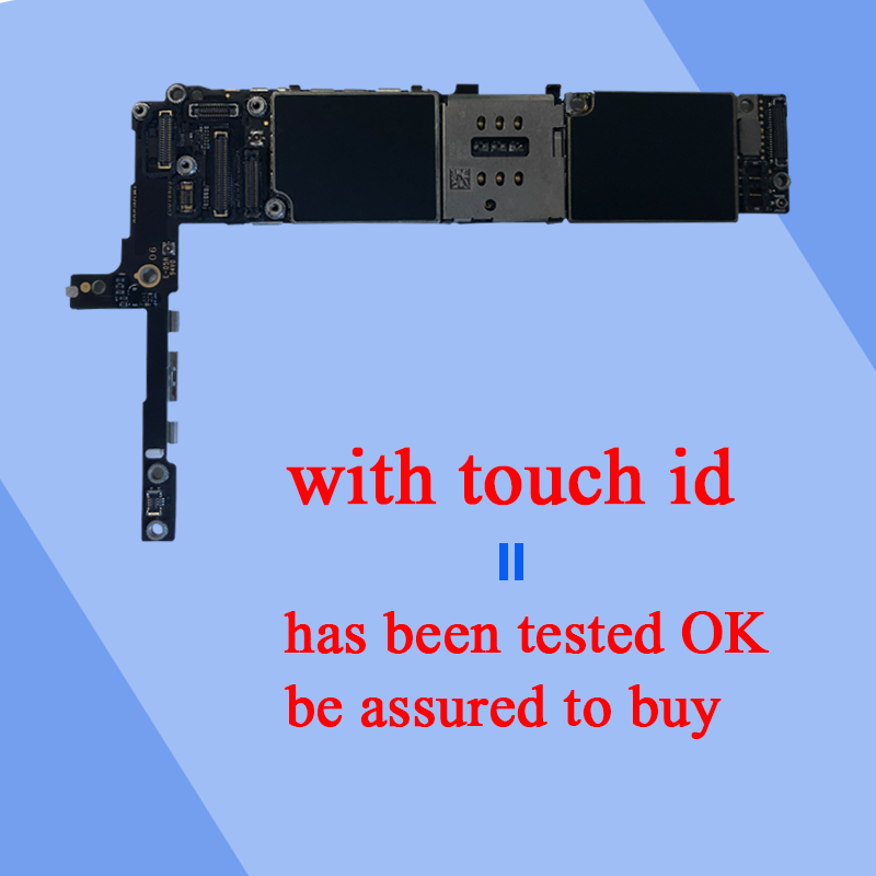 Factory original Motherboard For iPhone 6S Plus 6sp Unlocked Mainboard With Touch ID Logic Board with IOS system Panel NO iCloud in Mobile Phone Antenna from Cellphones Telecommunications