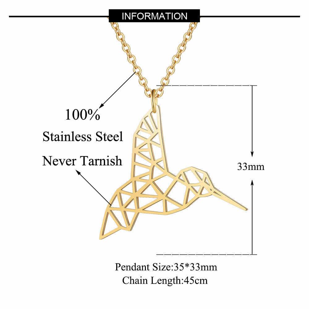 Unikalne Hummingbird naszyjnik LaVixMia włochy projekt 100% naszyjniki ze stali nierdzewnej dla kobiet Super moda biżuteria specjalny prezent