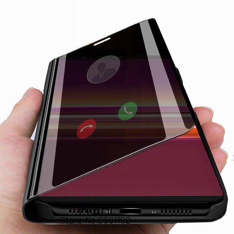 Чехол для sony xperia 5, умный зеркальный флип-чехол для телефона sony xperia 5 xperia5 j8210 j8270 j9210, чехол с подставкой, оболочка, чехол