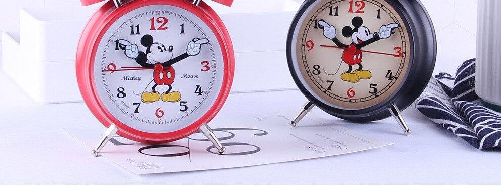 dos desenhos animados bell metal estudante cabeceira silencioso despertador