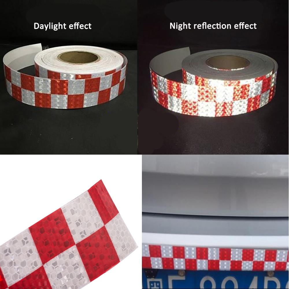 Купить с кэшбэком 5CM X 25M Truck Trailer Reflective Tape Self Adhesive Warning Tape Vinyl Stickers Roll Motorcycle Night Driving HGV Safety Mark
