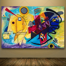 Wassily Kandinsky Oil Painting Classic Cansva Art Wall Poster And Sticker Handmade Oil Painting for Living Room Bedroom Decor(China)