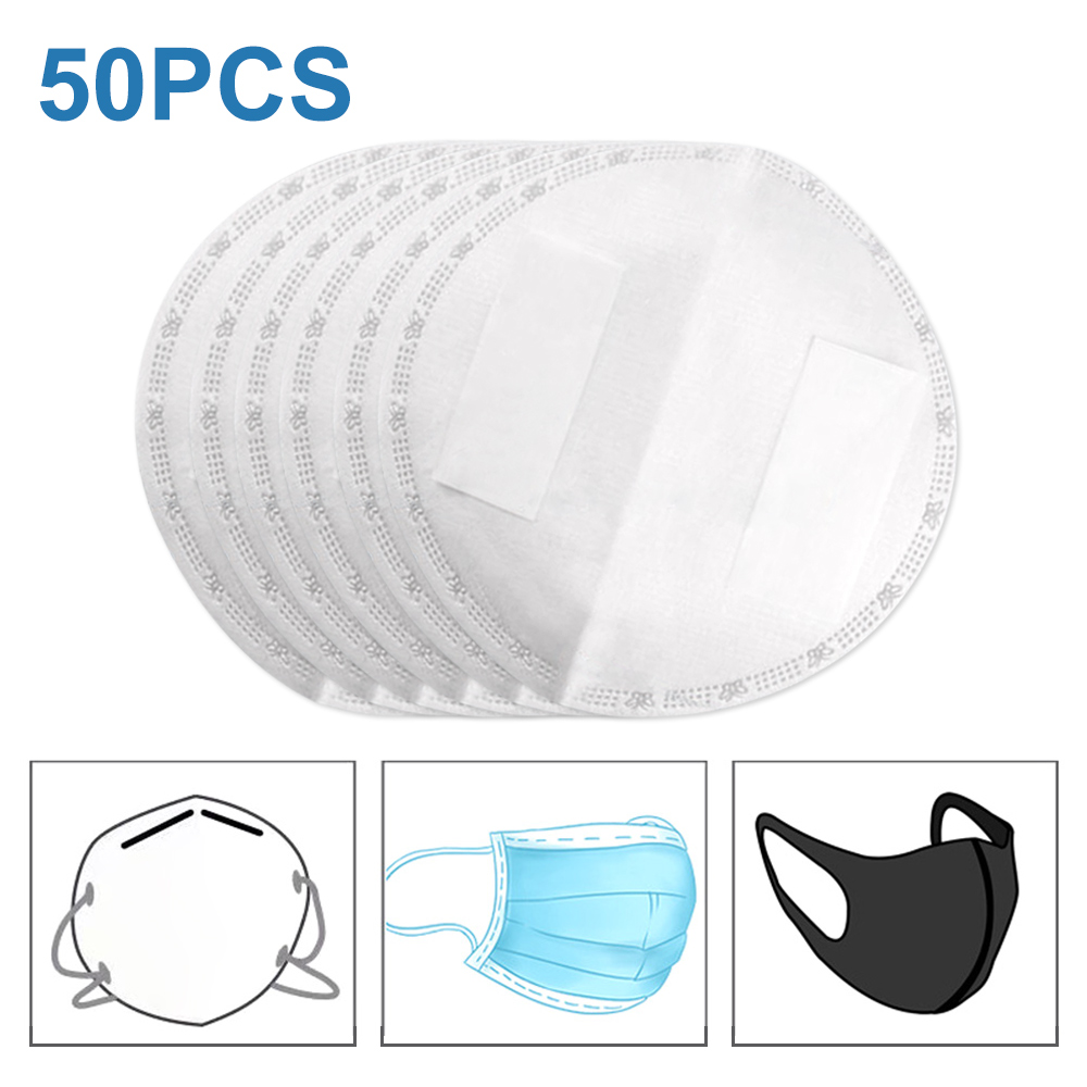 50pcs Single Packaging Disposable Mask Filter For Mask Replacement Universal Protective Breathable Pad Replaceable Filter