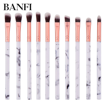 Makeup Brushes Eyebrow Brush Kit Marbling Marble Pattern Set  Shadow Beauty Make Up Cosmetic Tools 10Pcs/Set