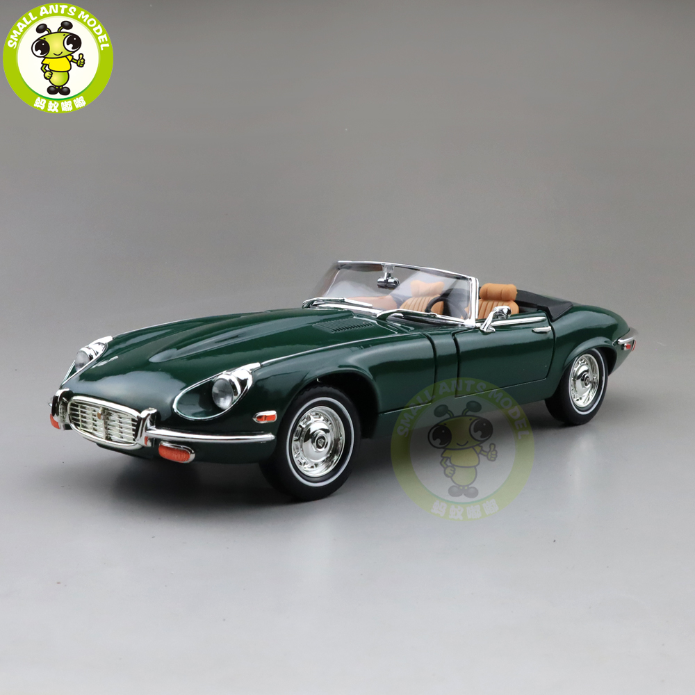 1/18 1971 JA GUAR E-TYPE Roadster Road Signature Diecast Model Car Toys Boys Girls Gift