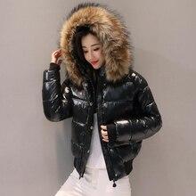 Пуховик с воротником из натурального меха 18 см, Женская парка, зимняя куртка, женская одежда, теплое зимнее пальто, женская куртка, водонепроницаемая парка
