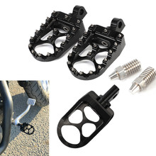 Motorcycle Footpegs Footrests Pedal CNC Custom Wide Foot Pegs Rest For Harley Dyna 1993-2017 Fatboy 1990-2017 Iron 883 2009-2017(China)